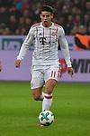 12.01.2018, BayArena, Leverkusen , GER, 1.FBL., Bayer 04 Leverkusen vs. FC Bayern M&uuml;nchen<br /> im Bild / picture shows: <br /> James Rodriguez (Bayern Muenchen #11),  Einzelaktion, Ganzk&ouml;rper / Ganzkoerper,  <br /> <br /> <br /> Foto &copy; nordphoto / Meuter