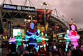 4th November 2017, Sydney Football Stadium, Sydney, Australia; Rugby League World Cup, England versus Lebanon; statues in front of the stadium before the game
