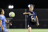 Piscataway, NJ - Saturday Aug. 27, 2016: Kelley O'Hara, Sofia Huerta during a regular season National Women's Soccer League (NWSL) match between Sky Blue FC and the Chicago Red Stars at Yurcak Field.