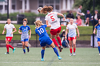 Boston, MA - Friday July 07, 2017: Rosie White and Kathleen Naughton during a regular season National Women's Soccer League (NWSL) match between the Boston Breakers and the Chicago Red Stars at Jordan Field.