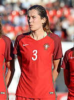20171024 - PENAFIEL , PORTUGAL :  Portugese Raquel Infante pictured during a women's soccer game between Portugal and the Belgian Red Flames , on tuesday 24 October 2017 at Estádio Municipal 25 de Abril in Penafiel. This is the third game for the  Red Flames during the Worldcup 2019 France qualification in group 6. PHOTO SPORTPIX.BE | DAVID CATRY