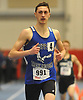 Nick Crociata of Hauppauge legs out a win in the 600 meter run during the Suffolk County varsity boys track and field small schools championship at Suffolk Community College Grant Campus in Brentwood on Friday, Feb. 2, 2018. He recorded a time of 1:24.26.