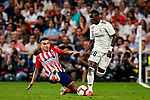 Vinicius Junior of Real Madrid (R) in action against Angel Correa of Atletico de Madrid (R) during their La Liga  2018-19 match between Real Madrid CF and Atletico de Madrid at Santiago Bernabeu on September 29 2018 in Madrid, Spain. Photo by Diego Souto / Power Sport Images