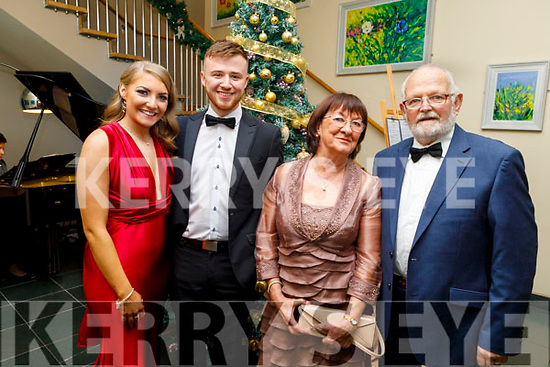 Aoife O'Riordan, Aaron Williams, Camille and Jamesie Ryan attending the Fenit Lifeboats 25th Anniversary Black Tie Charity Ball in Ballyroe Heights Hotel on Saturday