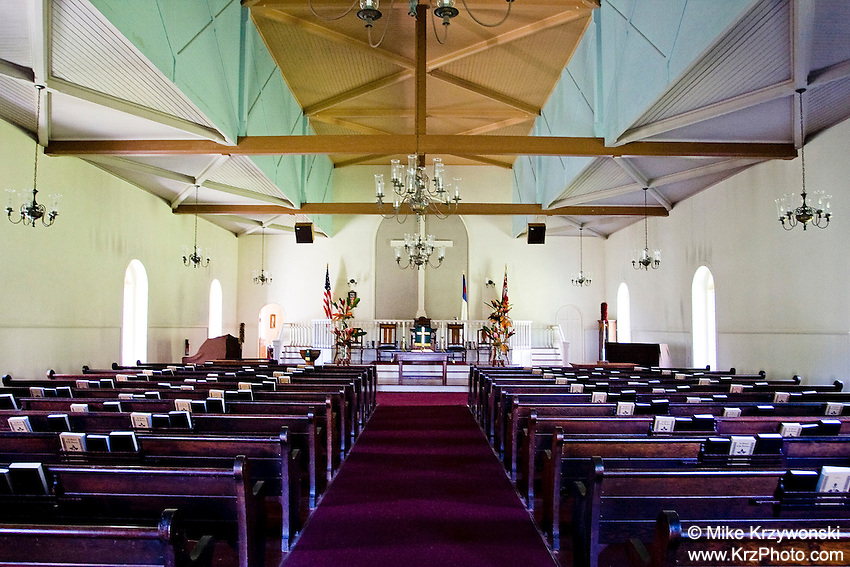 Inside of Wananalua Congregational Church, Hana, Maui