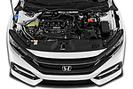 Car Stock 2020 Honda Civic-Hatchback Sport-Touring 5 Door Hatchback Engine  high angle detail view