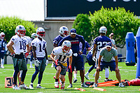 June 13, 2017: New England Patriots wide receiver Julian Edelman (11) runs through a drill at the New England Patriots organized team activity held on the practice field at Gillette Stadium, in Foxborough, Massachusetts. Eric Canha/CSM