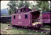 #0524 caboose on display. Old RPO in background.<br /> D&amp;RGW