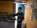 Iraq 2013 .In Domiz Refugee Camp, a refugee in his bakery   .Irak 2013 .Dans le camp de Domiz, un refugie dans sa boulangerie