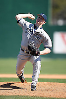 February 20, 2009:  Pitcher Dan Mahoney (19) of the University of Connecticut during the Big East-Big Ten Challenge at Jack Russell Stadium in Clearwater, FL.  Photo by:  Mike Janes/Four Seam Images