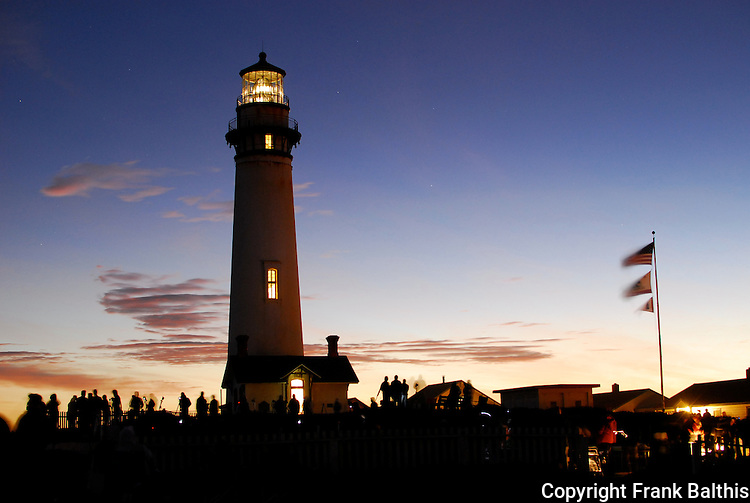 Anniversary lighting at Pigeon Point Lighthouse