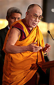 The Dalai Lama speaks after receiving the Congressional Gold Medal in Washington DC USA on 17 October 2007.