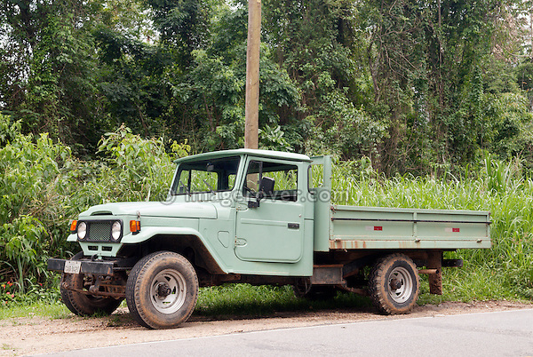 Brasilian built Toyota Bandeirante pickup (J45). Paraty, Brazil. --- No releases available. Automotive trademarks are the property of the trademark holder, authorization may be needed for some uses.