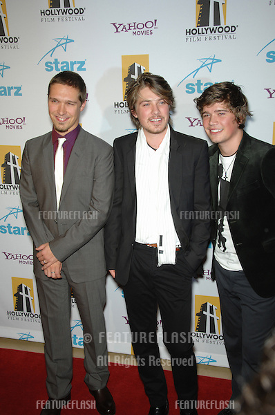 ISAAC HANSON (left), ZAC HANSON & TAYLOR HANSON - of pop group Hanson - at the 10th Annual Hollywood Awards Gala - the closing gala of the 2006 Hollywood Film Festival - at the Beverly Hills Hilton. .October 23, 2006  Los Angeles, CA.Picture: Paul Smith / Featureflash