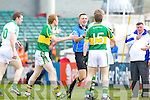 Colm Cooper protests with referee Rory Hickey after Declan O'Sullivan goal was disallowed in the Muster Senior Semi final held in The Gaelic Grounds last Saturday evening.