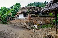 Bali, Karangasem, Tenganan. A traditional Bali Aga village. A house in Tenganan.
