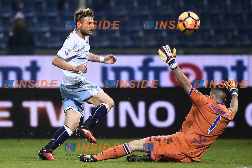 Ciro Immobile Lazio, Cristian Puggioni Sampdoria <br /> Genoa 10-12-2016 Stadio Marassi Football Calcio Serie A 2016/2017 Sampdoria - Lazio foto Image Sport/Insidefoto