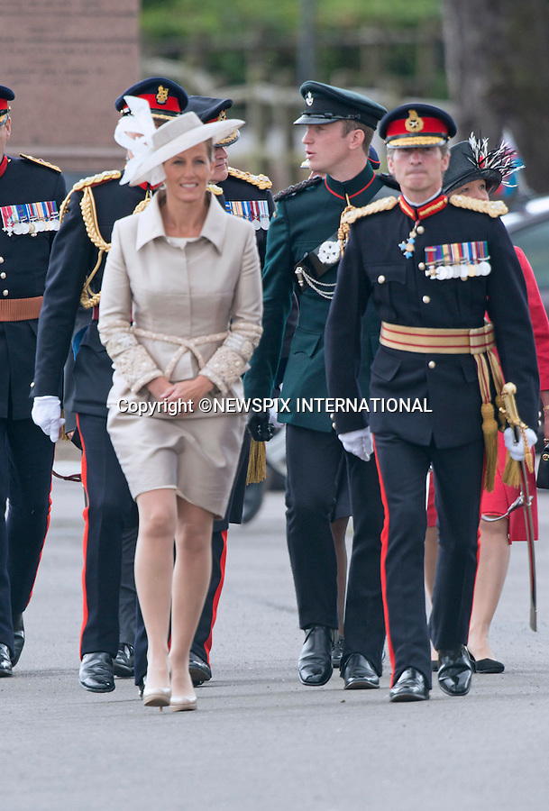 SOPHIE, COUNTESS OF WESSEX<br /> attends the Sovereign's Parade at the Royal Military Academy, Sandhurst_09/08/2013<br /> Mandatory Credit Photo: &copy;Francis Dias/NEWSPIX INTERNATIONAL<br /> <br /> **ALL FEES PAYABLE TO: &quot;NEWSPIX INTERNATIONAL&quot;**<br /> <br /> IMMEDIATE CONFIRMATION OF USAGE REQUIRED:<br /> Newspix International, 31 Chinnery Hill, Bishop's Stortford, ENGLAND CM23 3PS<br /> Tel:+441279 324672  ; Fax: +441279656877<br /> Mobile:  07775681153<br /> e-mail: info@newspixinternational.co.uk