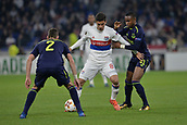 2nd November 2017, Nice, France; EUFA Europa League, Olympique Lyonnais versus Everton;  Houssem Aouar (lyon) takes on Ademola Lookman (everton)