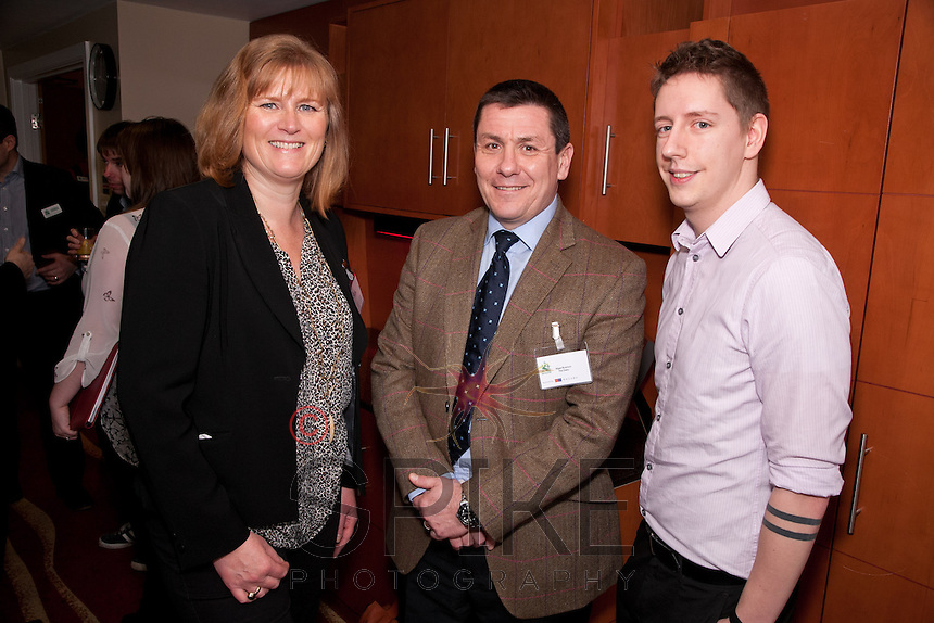 Pictured from left are Caroline Shutter of EDF Tax, Nigel Rowlson and Matt Simmons, both of The Dairy