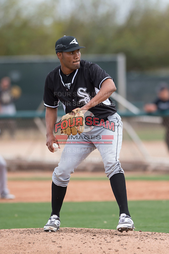 Chicago White Sox relief pitcher Jose Nin (78) during a Minor League Spring Training game against the Chicago White Sox at Camelback Ranch on March 16, 2018 in Glendale, Arizona. (Zachary Lucy/Four Seam Images)