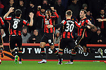 Junior Stanislas of Bournemouth celebrates scoring the opening goal of the game<br /> - Barclays Premier League - Bournemouth vs Manchester United - Vitality Stadium - Bournemouth - England - 12th December 2015 - Pic Robin Parker/Sportimage