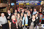 Eddie Thornton celebrating his 75th birthday with friends in The Cottage Inn Laytown. Photo:Colin Bell/pressphotos.ie