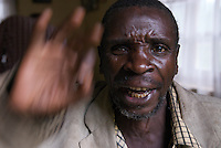 Francis, of the Batwa group, explains who he could speak with, if he had a mobile phone.