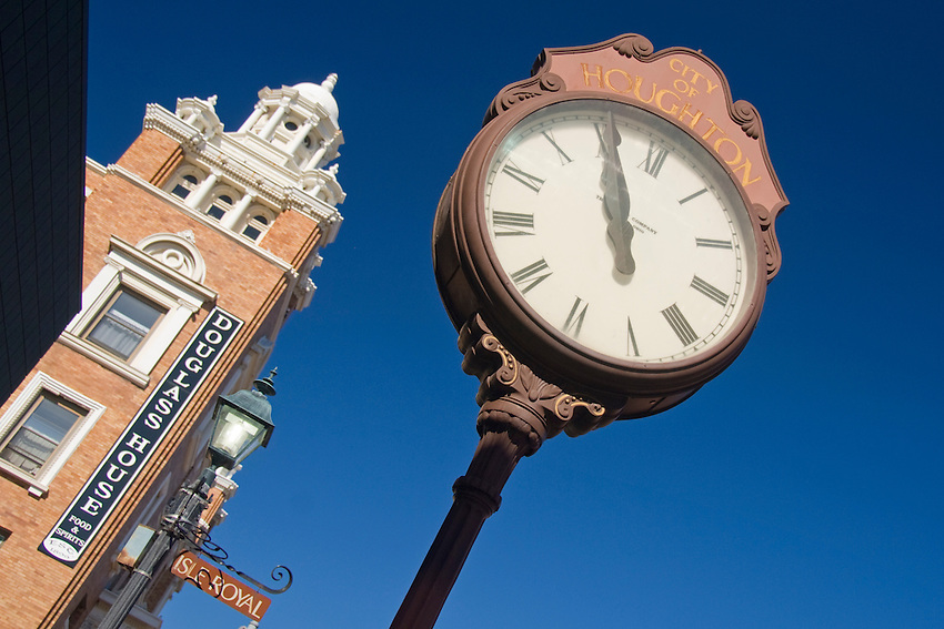 Downtown Houghton Michigan.