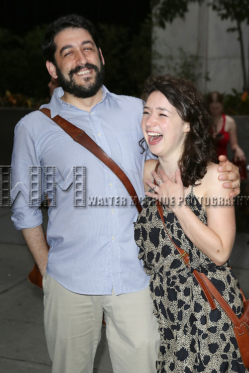 Evan Cabnet and Sarah Steele attend 'The Unavoidable Disappearance Of Tom Durnin' Opening Night at Laura Pels Theatre on June 27, 2013 in New York City.