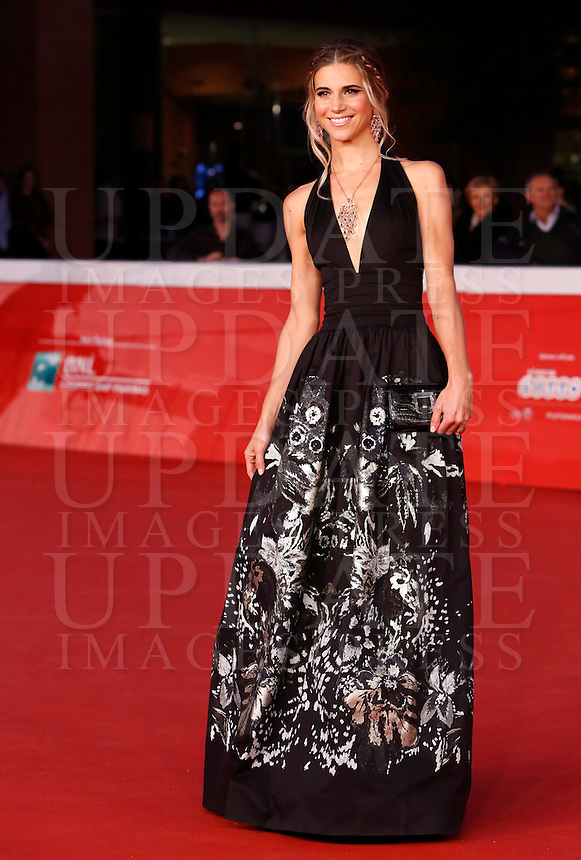L'attrice Nicoletta Romanoff posa sul red carpet al Festival Internazionale del Film di Roma, 22 ottobre 2014.<br /> Actress Nicoletta Romanoff poses on the red carpet of the international Rome Film Festival at Rome's Auditorium, ** October 2014.<br /> UPDATE IMAGES PRESS/Riccardo De Luca
