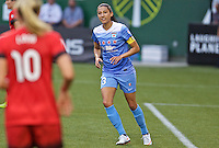 Portland, Oregon - Wednesday June 22, 2016: Chicago Red Stars forward Christen Press (23) during a regular season National Women's Soccer League (NWSL) match at Providence Park.