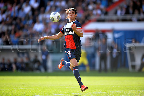 31.08.2013. Paris, France. French League football. Paris St Germain versus Guingamp Aug 31st.  Edinson Cavani (psg)