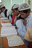 Madrasa Students Studying the Koran, Madrasa Imdadul Uloom, Dehradun, India.