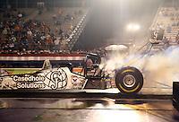 Apr 24, 2015; Baytown, TX, USA; NHRA  top fuel driver Larry Dixon during qualifying for the Spring Nationals at Royal Purple Raceway. Mandatory Credit: Mark J. Rebilas-