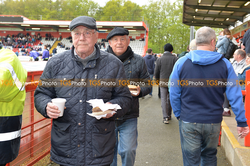 Stevenage fans arrive during Stevenage vs Exeter City, Sky Bet EFL League 2 Football at the Lamex Stadium on 28th April 2018