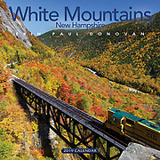 2019 White Mountains, New Hampshire wall calendar by ScenicNH Photography LLC | Erin Paul Donovan. The front cover is of Notch Train is crossing Willey Brook. Copies of the White Mountains calendar can be purchased here: http://bit.ly/2GPQ9q3