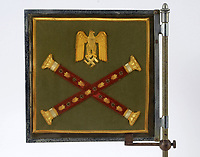 BNPS.co.uk (01202 558833)<br /> Pic Lawrences/BNPS<br /> <br /> Extraordinary tale of Anglo-German post war  friendship emerges...<br /> <br /> The official car standard for legendary German commander Erwin Rommel is being sold by the family of a former British officer who befriended his widow after the war.<br /> <br /> Brig Desmond Young was captured by the Nazis in Libya and while being interrogated, Rommel personally intervened to protect him.<br /> <br /> After the war Mr Young befriended Rommel's widow Lucia and wrote a biography called 'Rommel: The Desert Fox'.<br /> <br /> Mr Young and Frau Rommel struck up a friendship and she presented him with the standard after he gifted her the European rights to his book as an act of kindness due to her penniless state.<br /> <br /> Estimated at £12,000, the historic item will go under the hammer at Lawrence's auction house in Crewkerne, Somerset on November 14th.
