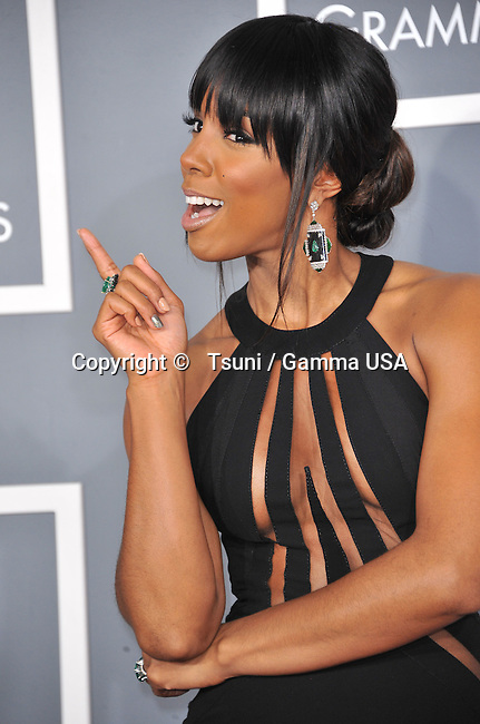 Kelly rowland _652 at  the 55th Ann. Grammy Awards 2013 at the Staples Center in Los Angeles.