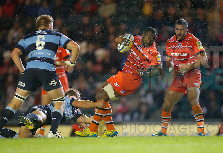 Vereniki Goneva in action for Leicester Tigers - Rugby Union - Leicester Tigers vs Cardiff Blues - pre-season friendly - Welford Road Leicester - 29th August 2014 - Picture - Malcolm Couzens/Sportimage