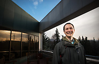 Kurt Meehleis, a UAA grad student pursuing a Master of Science in Civil Engineering, is pictured outside the Administration and Humanities Building.