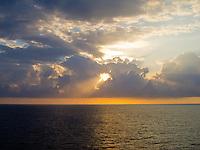 Sunrise in the Caribbean, off Grand Turk Island.