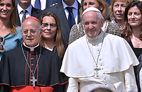 Cardinal Ricardo Blazquez Perez,Pope Francis during of a weekly general audience at St Peter's square in Vatican.June 6, 2018