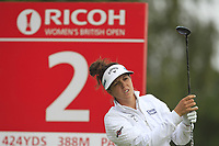 Emma Talley (USA) on the 2nd tee during Round 3 of the Ricoh Women's British Open at Royal Lytham &amp; St. Annes on Saturday 4th August 2018.<br /> Picture:  Thos Caffrey / Golffile<br /> <br /> All photo usage must carry mandatory copyright credit (&copy; Golffile | Thos Caffrey)