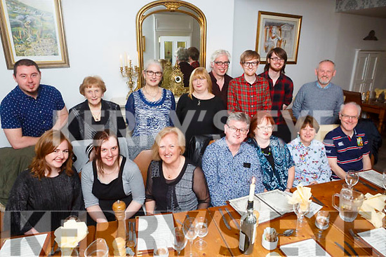 Enjoying a Moran Family Reunion, in Memory of Marie Moran McGarth of Walsh'e Terrace Tralee at Bella Bia's on Saturday