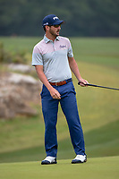 Andrew Landry (USA) watches his putt on 1 during Round 3 of the Valero Texas Open, AT&amp;T Oaks Course, TPC San Antonio, San Antonio, Texas, USA. 4/21/2018.<br /> Picture: Golffile   Ken Murray<br /> <br /> <br /> All photo usage must carry mandatory copyright credit (&copy; Golffile   Ken Murray)