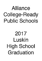 Alliance 2017 Graduation Luskin HS