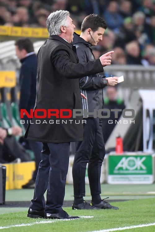 19.03.2017, Borussia-Park, Moenchengladbach, GER, 1.FBL., Borussia M&ouml;nchengladbach. vs. FC Bayern Muenchen<br /> <br /> im Bild / picture shows: <br /> Carlo Angelotti (Trainer FC Bayern Muenchen),<br /> <br /> <br /> Foto &copy; nordphoto / Meuter