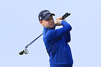 Geoff Lenehan (Portmarnock) on the 1st tee during Round 3 of The West of Ireland Open Championship in Co. Sligo Golf Club, Rosses Point, Sligo on Saturday 6th April 2019.<br /> Picture:  Thos Caffrey / www.golffile.ie