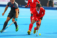 Weibao Ao of China during the Hockey World League Quarter-Final match between Netherlands and China at the Olympic Park, London, England on 22 June 2017. Photo by Steve McCarthy.<br /> <br /> Netherlands v China at the Olympic Park, London, England on 22 June 2017. Photo by Steve McCarthy.